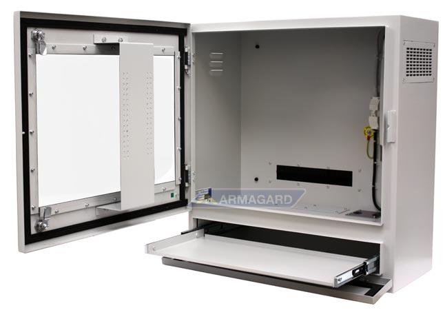 Armoire pc industrielle protection ip54 pour les moniteurs de 22 et les ordinateurs utilis s - Armoire informatique industrielle ...