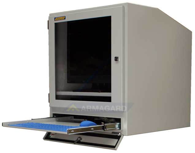 armoire pour ordinateur armoire ip54 protection pour cran en milieux industriels poussi reux. Black Bedroom Furniture Sets. Home Design Ideas