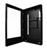 Armoire pour panneau plat en mode portrait vue sur le côté, ouverte | PDS-W-P