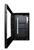Armoire pour panneau plat en portrait – Porte frontale ouverte   PDS-W-P