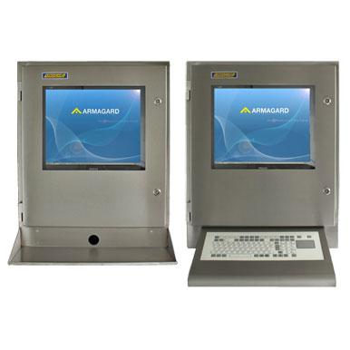 Armoire pc étanches SENC-700 - avec tablette pour le clavier ou clavier à membrane