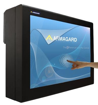 Armoire pour panneau d'affichage à écran tactile